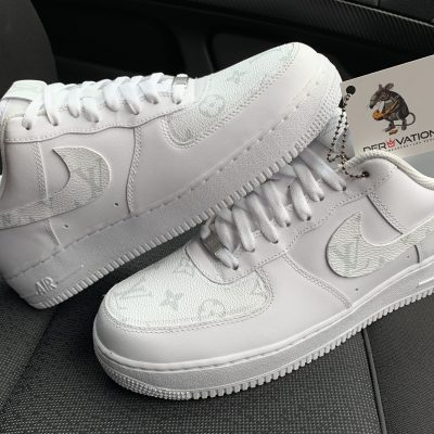 CUSTOM WHITE/GREY LV X AIR FORCE 1