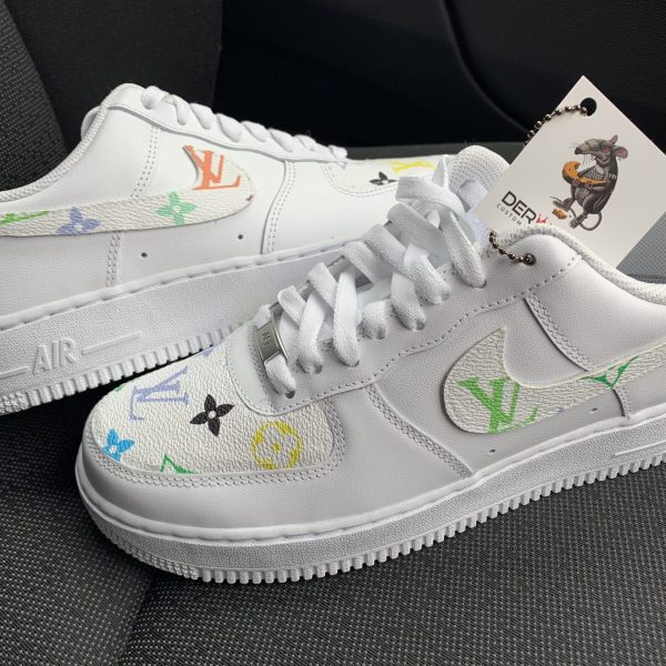 WHITE MULTI COLOR LV AIR FORCE 1