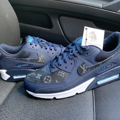 CUSTOM LV NAVY AIR MAX 90