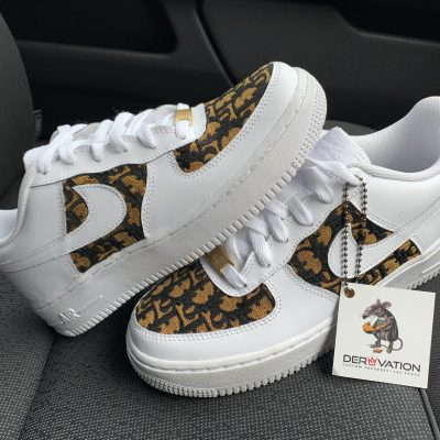 CUSTOM MUSTARD DIOR X AIR FORCE 1
