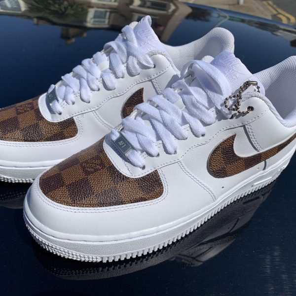 CUSTOM BROWN LV X 19 AIR FORCE 1