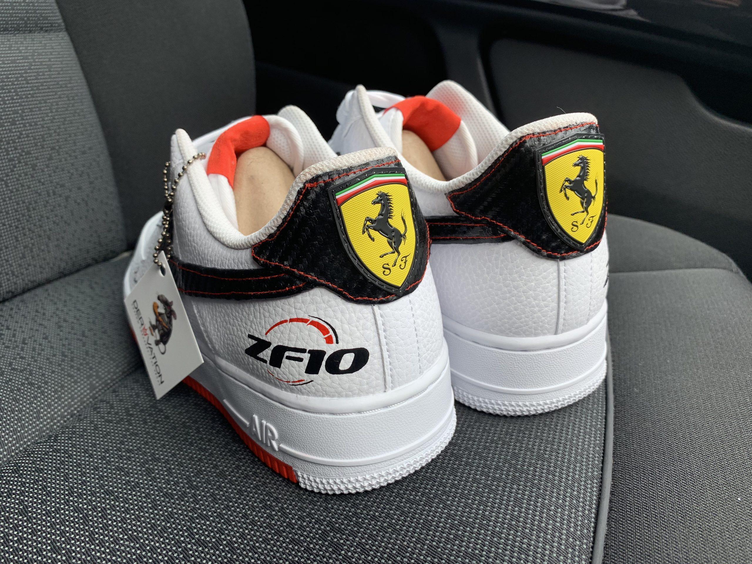Custom Ferrari 19 Air Force 1 Derivation Customs Custom Sneakers Swarovski Trainers