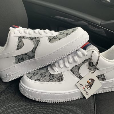 CUSTOM BLACK GG X AIR FORCE 1