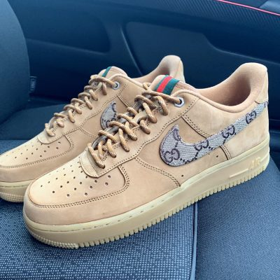 CUSTOM TAN GG AIR FORCE 1