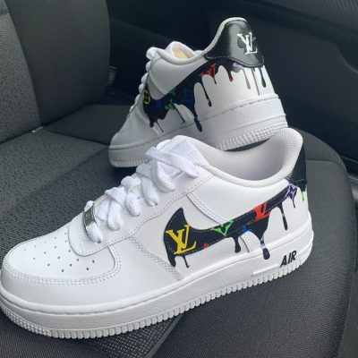 CUSTOM RAINBOW LV DRIP AIR FORCE 1