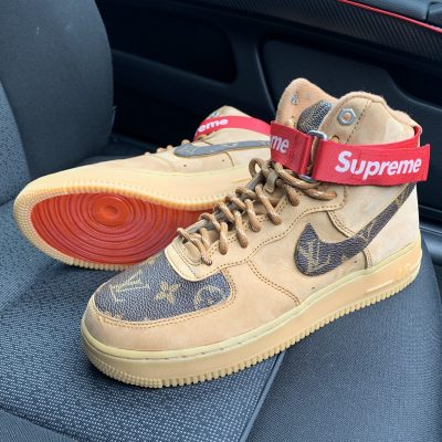 CUSTOM TAN LV X AIR FORCE 1 MIDS