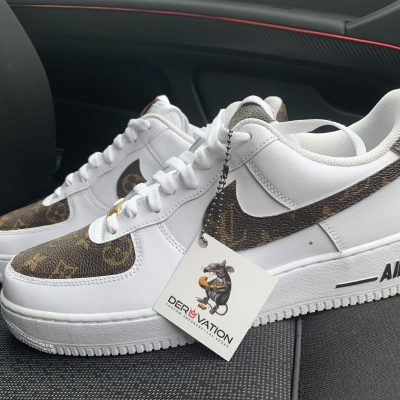 CUSTOM BROWN LV X 20 AIR FORCE 1