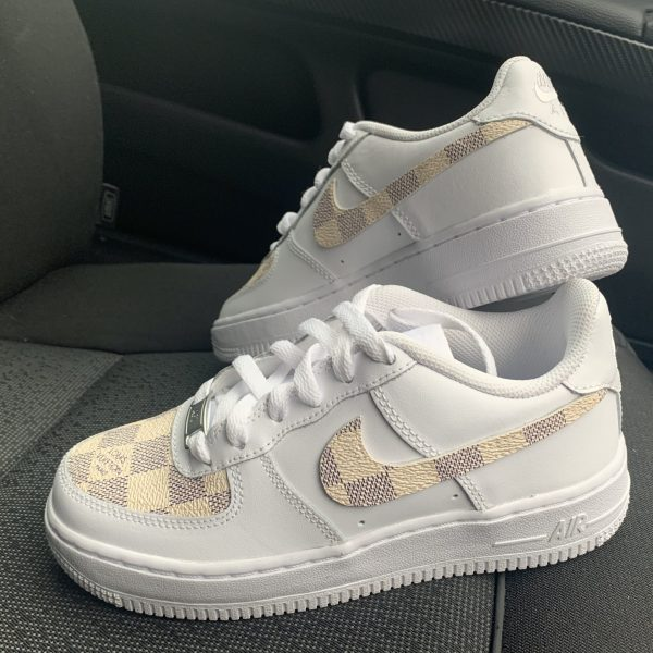 CUSTOM BEIGE LV X 19 AIR FORCE 1