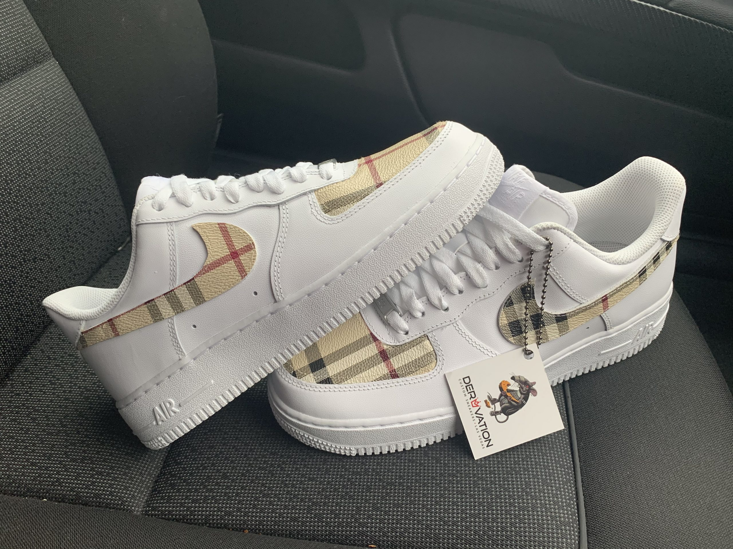 Custom Burberry 19 Air Force 1 Derivation Customs Custom