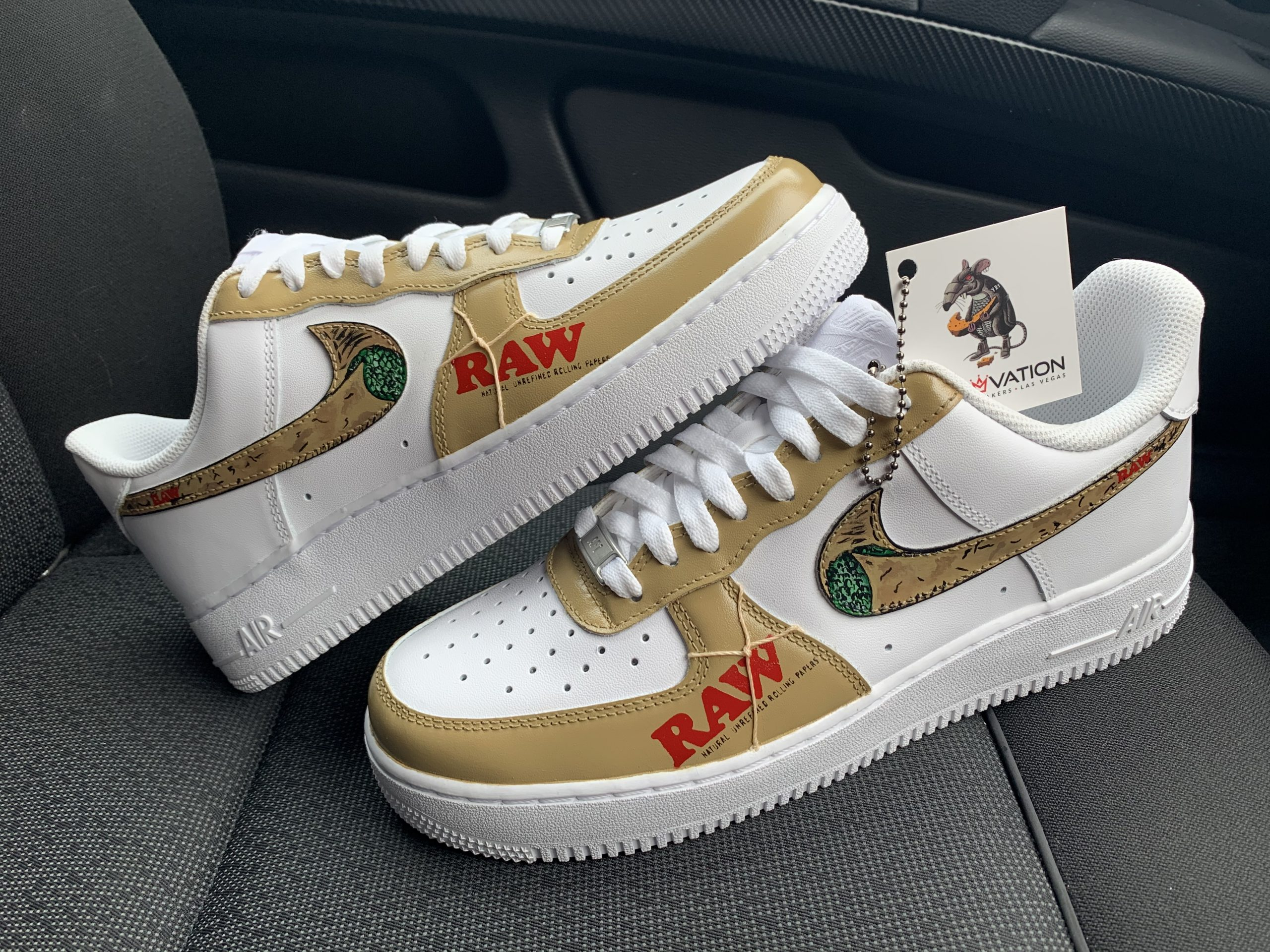 Custom Raw Air Force 1 Derivation Customs Custom Sneakers