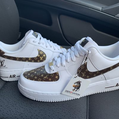 CUSTOM LV 18K E20 GOLD AIR FORCE 1