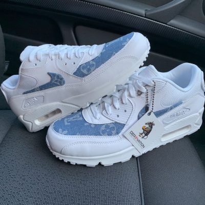 CUSTOM LV SUPREME DENIM AIR MAX 90