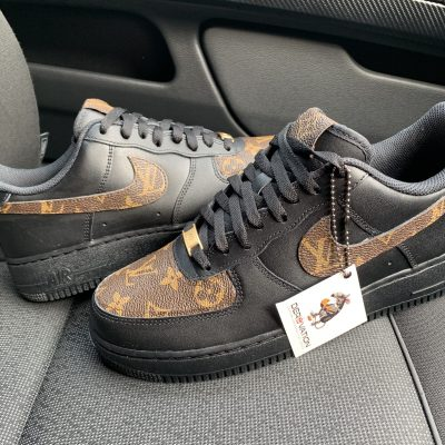 CUSTOM BLACK LV X 20 AIR FORCE 1