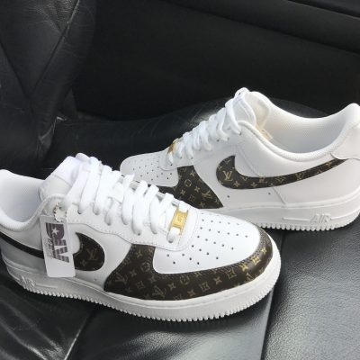 CUSTOM LV 18K GOLD AIR FORCE 1