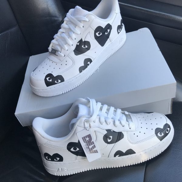 CDG HEART FACE AIR FORCE 1