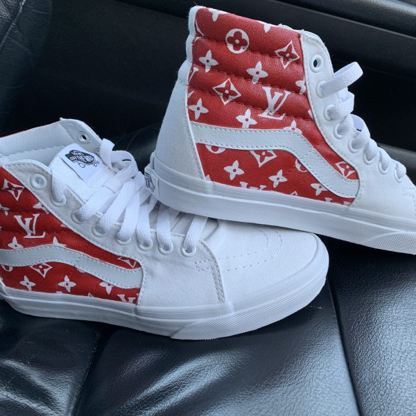 CUSTOM WHITE LV X SK8 HIGH