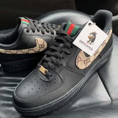 CUSTOM BLACK GG AIR FORCE 1