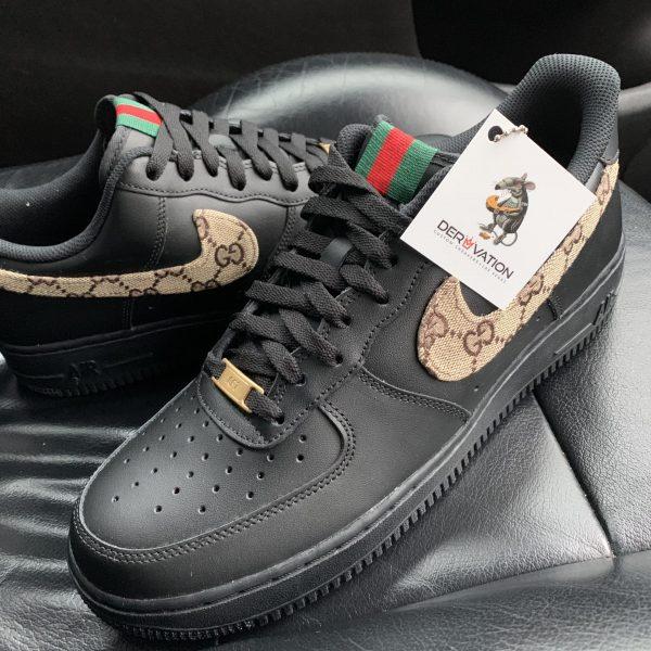 CUSTOM BLACK GG AIR FORCE 1
