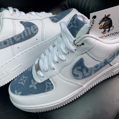 CUSTOM DENIM LV X AIR FORCE 1
