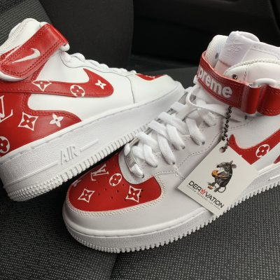 CUSTOM RED LV X AIR FORCE 1 MID