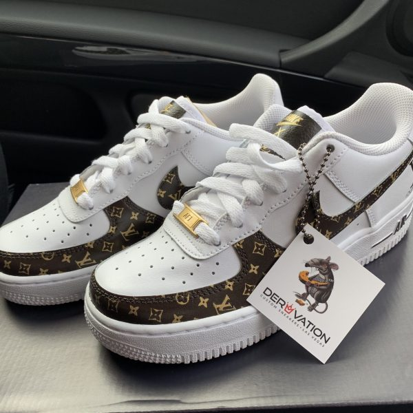 CUSTOM 18K GOLD XCE 19 LV AIR FORCE 1