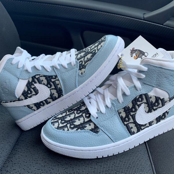 Custom Dior Jordan 1 mid