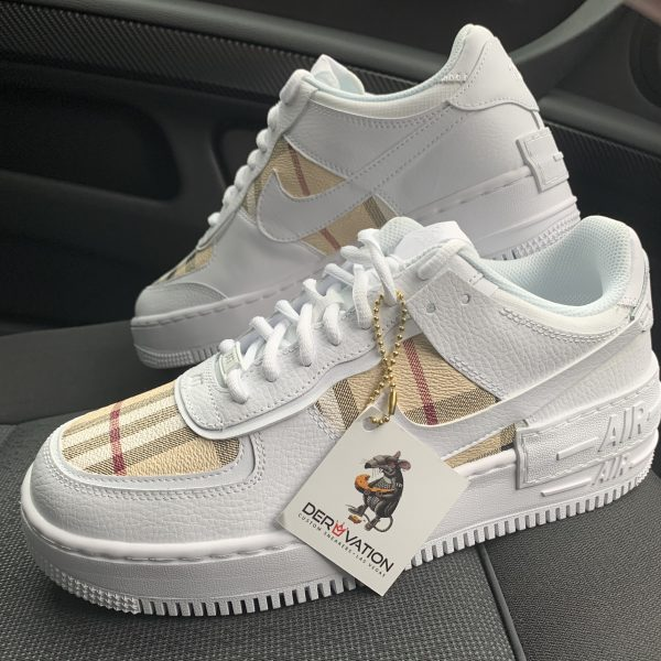 Custom Burberry Air Force 1 Shadow