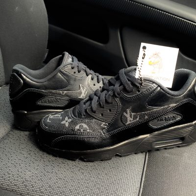 Custom Triple Black LV Air Max 90