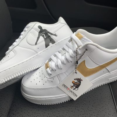 Custom 18K Gold Cr7 Air Force 1
