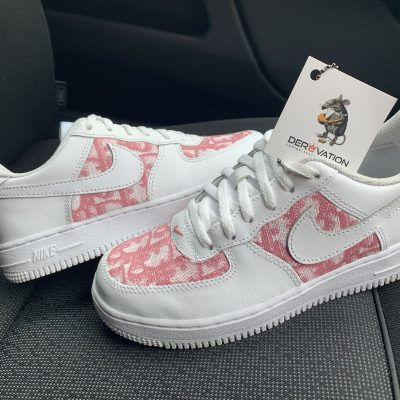 CUSTOM PINK DIOR X 20 AIR FORCE 1