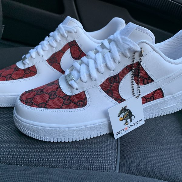 These Custom red GG Air Force 1