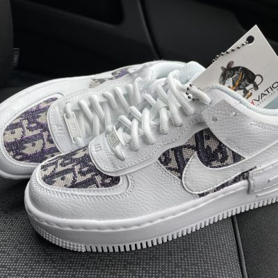 These Custom Purple glitter Dior Air Force 1