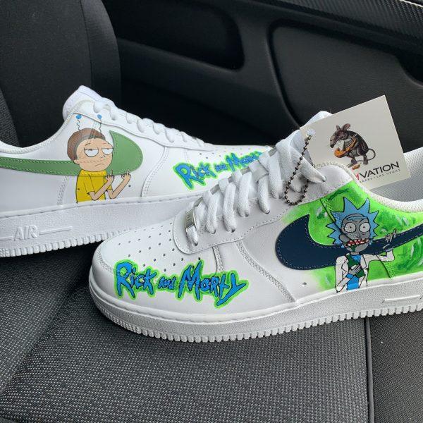 Custom Rick and Morty Af1