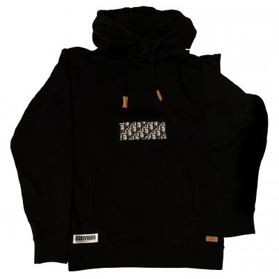 CUSTOM BLACK DIOR PATCH HOODIE