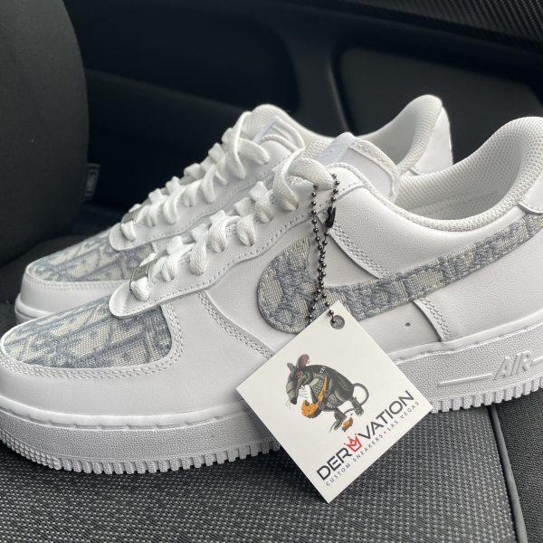 Custom Grey Dior X Air Force 1