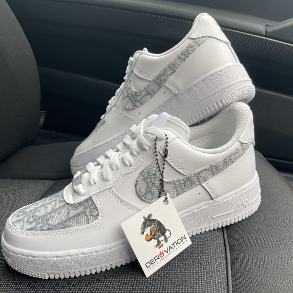 Custom Grey Dior X Air Force 1