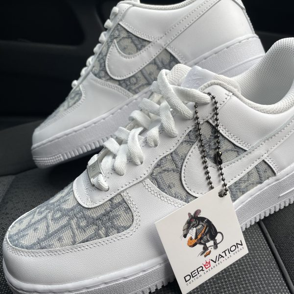 Custom Grey Dior X 20 Air Force 1
