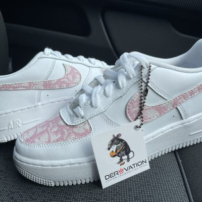 Custom Pink Dior X 21 Air Force 1