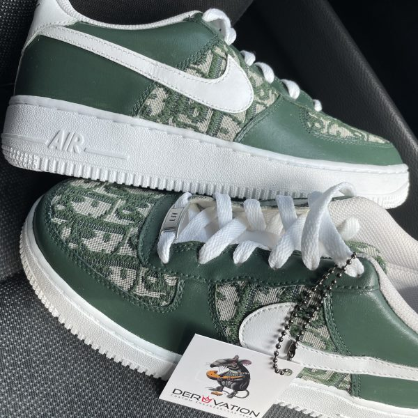 Custom Olive Dior X 20 Air Force 1